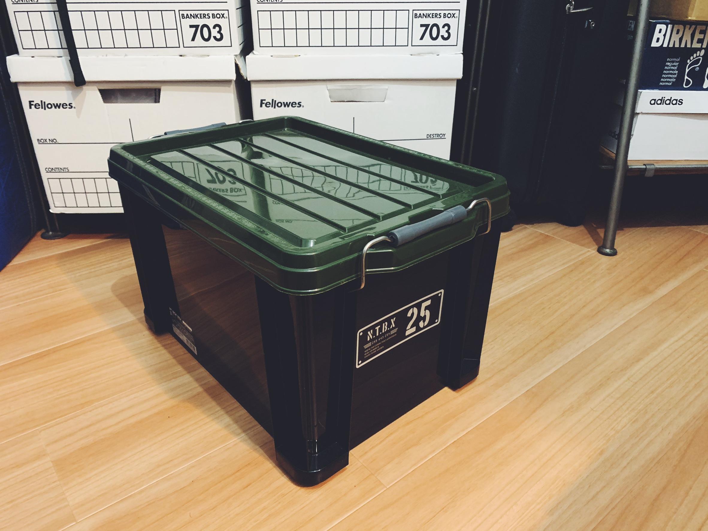 Astage(アステージ) 収納ボックス Xシリーズ NT Box 25X ブラック カーキ